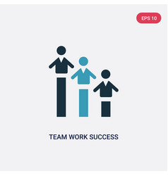 two color team work success icon from people vector image