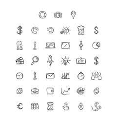 Universal Doodle Icons For Mobile and Web vector image