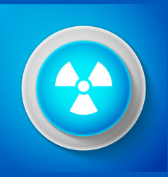 White radioactive icon radiation hazard symbol vector