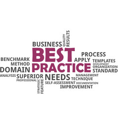 Word cloud - best practice vector