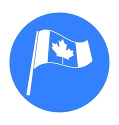Canadian flag icon in black style isolated on vector image