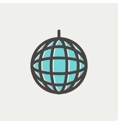 Disco ball thin line icon vector image vector image