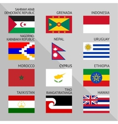 Flags of world 15 vector