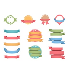 Labels with Ribbons vector image