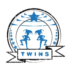 twins vector image