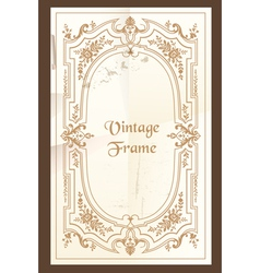 Vintage frame - with place for your text vector image vector image