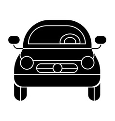 car vehicle front view icon vector image