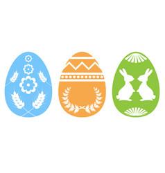 easter egg silhouette vector image