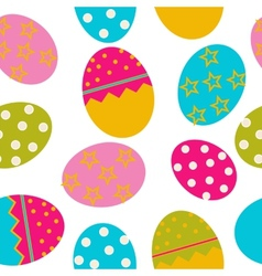 Easter Seamless pattern with eggs background vector image