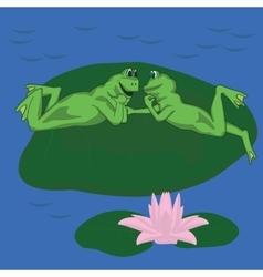 frog love vector image