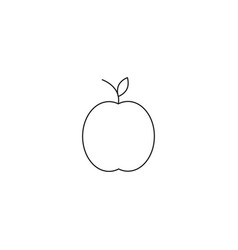 apple line icon outline sign linear style vector image vector image