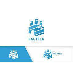 factory logo combination industry symbol vector image