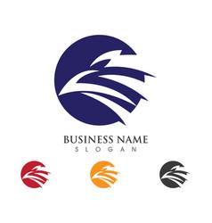 falcon wing logo template icon design vector image vector image