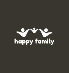 happy family logo template vector image