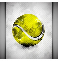 Tennis ball watercolor vector image vector image