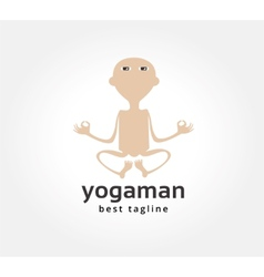 Abstract yoga man logo icon concept Logotype vector image