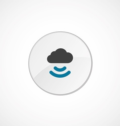 connect cloud icon 2 colored vector image vector image