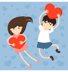 of girl and boy vector image