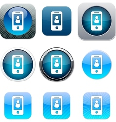 Person blue app icons vector image