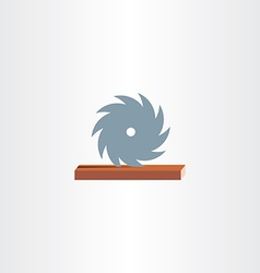 sawmill cutting wood icon vector image