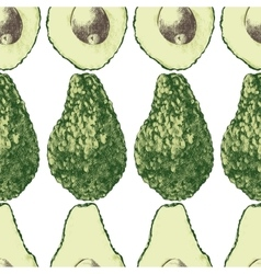 seamless pattern with avocado vector image vector image