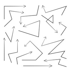 set arrows design elements vector image