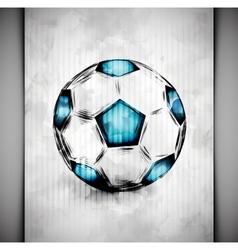Soccer ball watercolor vector image