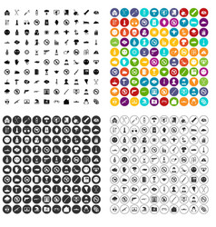 100 tension icons set variant vector