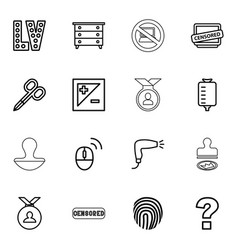 16 stamp icons vector image