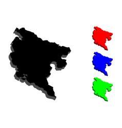3d map of montenegro vector image