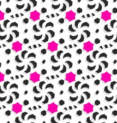 3d ornament with black and pink on white vector