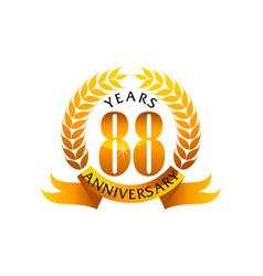 88 years ribbon anniversary vector
