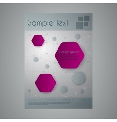 a business brochure vector image