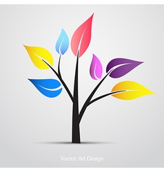Abstract Creative Colorful Tree vector image