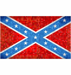 Abstract grunge mosaic confederate flag vector