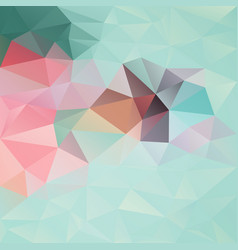 Abstract irregular polygon background mint vector