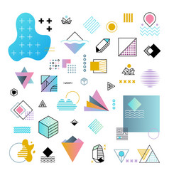 Abstract trendy geometric minimal shapes vector