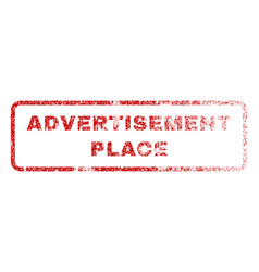 Advertisement place rubber stamp vector