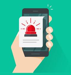 alarm alert caution message or risk vector image