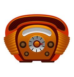 American radio icon cartoon style vector