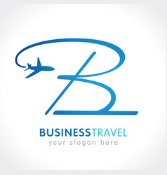 B business travel company logo vector