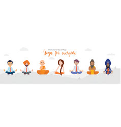 Banner design of yoga for everyone vector