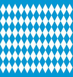 bavarian flag seamless pattern for oktoberfest vector image