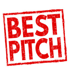 Best pitch sign or stamp vector