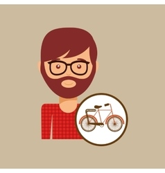 Bicycle vintage icon retro background design vector
