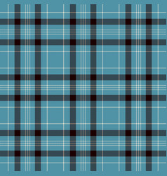 Black blue and white plaid tartan flannel shirt vector