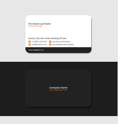 black corporate business card vector image