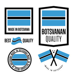 Botswana quality label set for goods vector