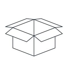 Carton box isolated icon design vector
