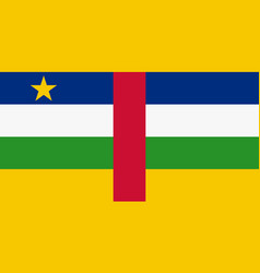 Central african national flag with official colors vector